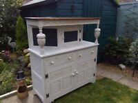 Light grey oak rustic wire fronted sideboard /dresser