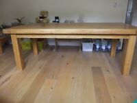 OAK DINING TABLE FROM MULTIYORK IS IN EXCELLENT CONDITION ,7FT 2 INCHES LONG, 3FT 3 INCHES WIDE,£300
