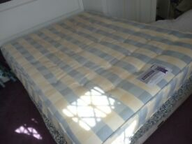 five foot king size complete bed good condition,expensive mattress,£95,collect , stanmore,middx.