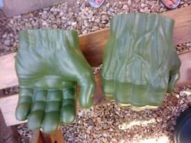 Hulk mask and fists