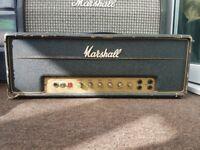 1970 Marshall JMP 50 Watt 1986 Bass Model