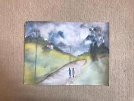 Unframed Watercolor Painting : Original Art work