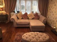 Next 3 seater sofa and stool