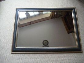 Brown & Gold Bevelled Glass Mirror