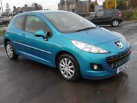 PEUGEOT 207 1.4 ACTIVE 3DR BLUE,1YRS MOT,CLICK ON VIDEO LINK TO SEE MORTE DETAILS