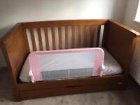 Mamas and Papas Dark Oak Ocean Cot, Toy Box and Shelf