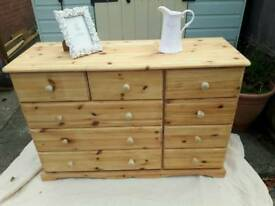 Quality solid pine chest of drawers