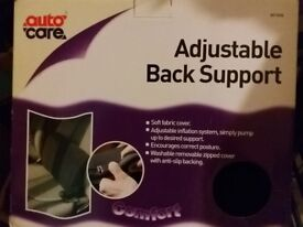 Brand new Autocare Adjustable Back Support AC1634