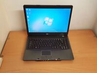 Acer Laptop Microsoft Windows 7 Office 3GB RAM Wifi 320GB HDD HDMI