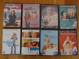 Teenage DVDs, Mean Girls,Lovely Bones,The Princess Diaries,Parent Trap,Angus,My Sisters Keeper x 8