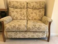 Cintique Richmond 2 seater settee and electric reclining armchair.