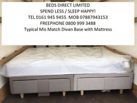 Brand new King-Size Divan Beds with Storage Drawers & Airsprung Mattress. Will Split. FREE DELIVERY!