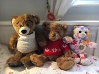1x Build-a-bear Happy Birthday tune bear and couple more