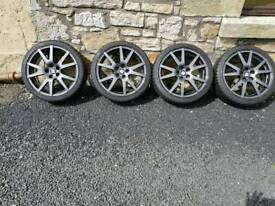 "17"" 5x100 Octavia vrs spider alloys"