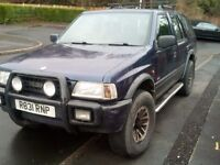 1998 VAUXHALL FRONTERA 4X4 TRANS GLOBE LIMITED EDITION 2.5 TURBO DIESEL LONG MOT PX POSSIBLE