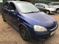Vauxhall Corsa SXI Twinport 1229cc Petrol 5 speed manual 5 door hatchback 55 Plate 30/09/2005 Blue