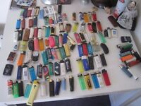 over 100 lighters all collected in the 1990's by myself, some fab novelty lighters included