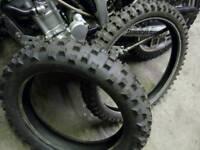 KLX250 EFI Tyre Pair