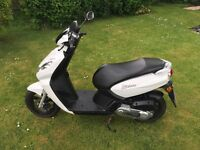 Pugeuot Kissbe 50cc Low mileage Bodywork excellent. Minor damage to steering lock as seen.