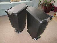 Kitchen Bins x 2 - Simple Human - 40 litres Pedal Bins - matching pair
