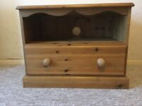Pine TV, DVD cabinet. Very good condition