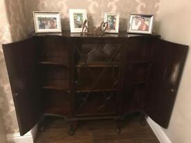 Lovely vintage decorative display cupboard