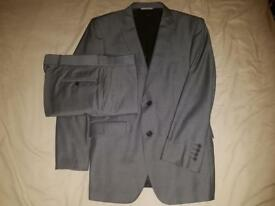 Burton Gray Colour with slickly look Tailored 2 Piece suit as new excellent condition