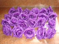 Purple artificial flowers
