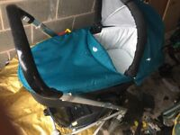 Joie 2 in 1 pram and pushchair with a car seat