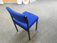 4x blue office chairs