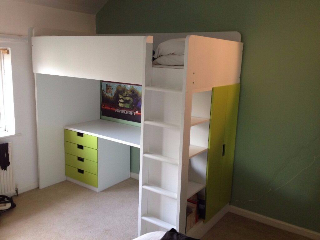 Ikea Stuva Loft Bed Combo With 4 Drawers 2 Doors In