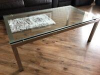 Genoa Glass / Brushed Steel Coffee Table