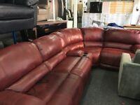 New/Ex Display Guvnor Corner Electric Recliner Sofa + Media Tray (Left or Right Side Corner)