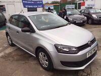 2011 VW POLO S 60 1.2 PETROL, 47,950 MILES, HPI CLEAR, 2 KEYS FINANCE: £500 DEPOSIT £124 X 48 MONTHS