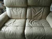Leather electric recliner.