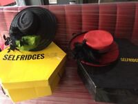 2 Elegant Ladies Hats - Selfridges - Ideal for Weddings & The Races