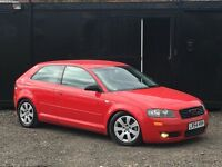 ★ AUDI A3 1.6L 3 DOOR + S LINE 1/2 LEATHER + ALLOYS ★