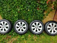 Vauxhall Alloys with tyres