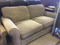 Cream / beige chenille 2 seater sofa sofa bed
