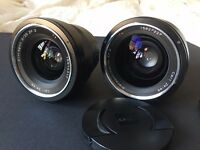 Carl Zeiss ZF.2 25mm F2 Lens + ZF.2 35mm F1.4 Lens sold together or separately. Excellent Condition