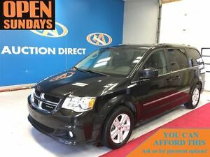 2013 Dodge Grand Caravan Crew, LEATHER, DVD, BACK UP CAM, BLUETO
