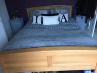 Marks & Spencer king size wooden bed