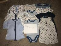 Boys 9-12 months vests / all in ones