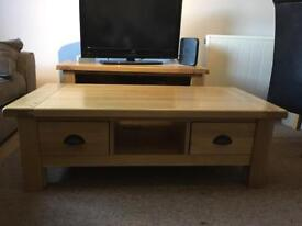 French Style Solid Oak Coffee Table