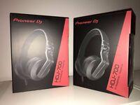 Pioneer HDJ-700-K DJ headphones in black. Brand new, sealed.