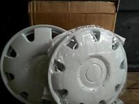 13 inch white wheel trims caravan trailer or motorhome