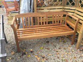 Hardwood Garden Bench. New. AVAILABLE IMMEDIATELY.