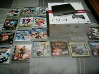 Ps3 with 2 controllers and 16 games