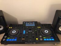 Pioneer XDJ-RX with Decksaver & Magma Flightcase including with stands 2 x Pioneer SDJ-50x speakers