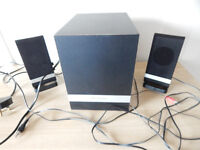 Wharfedale 2.1 20W RMS Models S21196A 3 Piece Speaker System Set